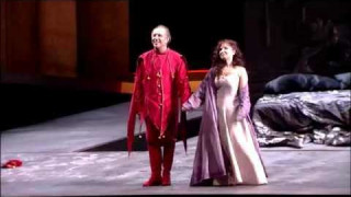 Leo Nucci et Elena Mosuc dans Rigoletto à l'Opéra de Bilbao