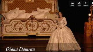 Damrau dans la Traviata mise en scène par Jacquot