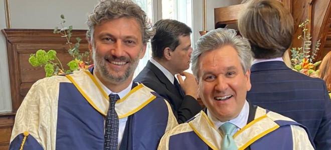 Jonas Kaufmann & Antonio Pappano, docteurs honoris causa à Londres