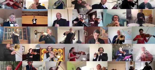 Même confinés, les orchestres jouent encore