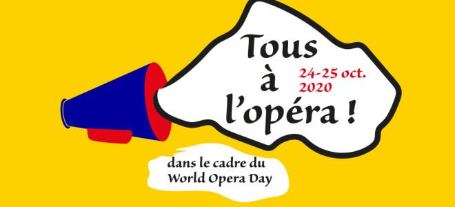 Tous à l'Opéra ce week-end des 24-25 octobre 2020