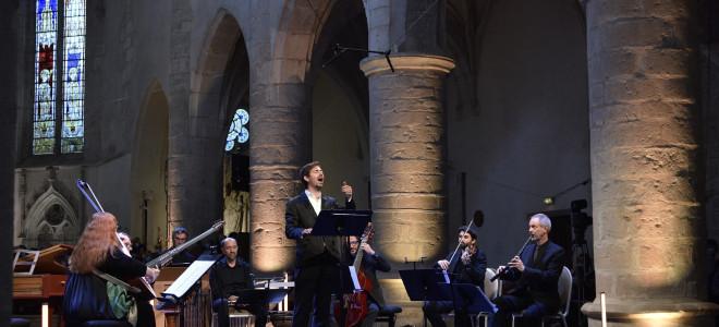 Brillants Valer Sabadus avec L'Arpeggiata au Festival d'Ambronay