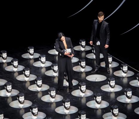 Ausrine Stundyte (Salomé) et Christian Natter (Oscar Wilde) - Salomé par Hans Neuenfels