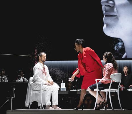 Nikolay Borchev, Michael Nagl, Jeanine de Bique dans Don Giovanni
