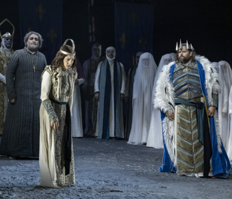 Patrizia Ciofi, Jean-François Borras et Pierre-Yves Pruvot dans Jeanne d'Arc