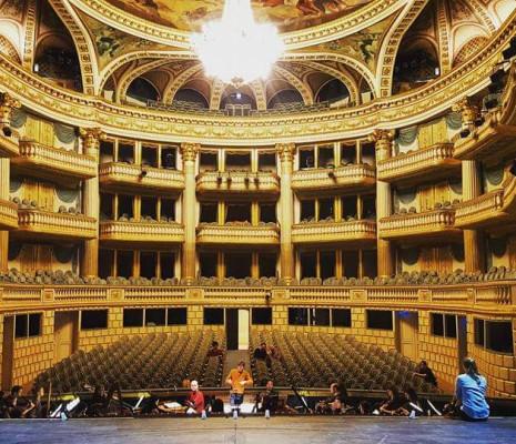 Répétition de l'Orfeo de Rossi au Grand Théâtre de Bordeaux