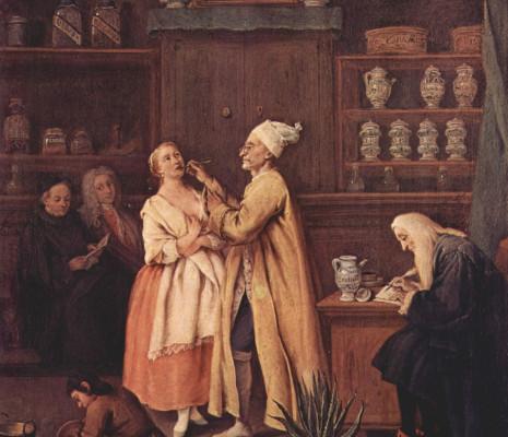 Pietro Longhi - L'apothicaire dans sa boutique