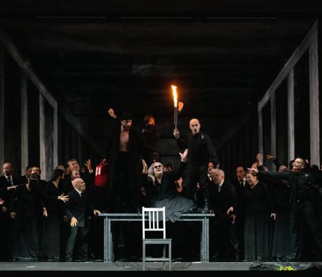 Agostina Smimmero, Sulkhan Jaoani et Roberto Covatta dans La Joconde par Olivier Py