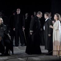 Samuel Youn (Le Roi) Adrian Eröd (Le héraut) Thomas Gazheli (Telramund) Norbert Ernst (Lohengrin) et Barbara Haveman (Elsa) - Lohengrin par Louis Désiré