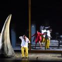 Gezim Myshketa, Luiz-Ottavio Faria et Rihab Chaieb dans Rigoletto par Marie-Eve Signeyrole
