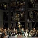 Gerald Finley (Hans Sachs), Bo Skovhus (Sixtus Beckmesser) et Günther Groissböck (Veit Pogner) - Les Maîtres Chanteurs de Nuremberg par Stefan Herheim