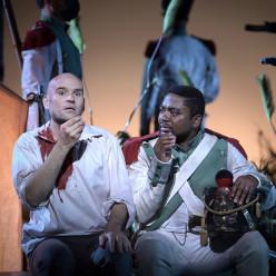 Michael Fabiano et Florent Mbia dans Tosca