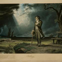 Carl Schweninger - Beethoven dans un paysage d'orage
