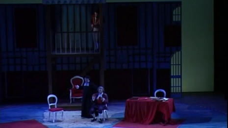 Marco Filippo Romano chante Basilio (Barbier de Séville de Paisiello)